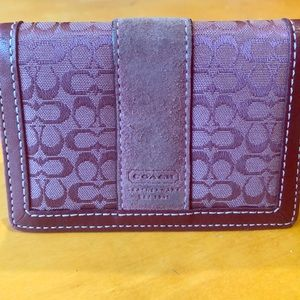 Purple Coach Mini Wallet